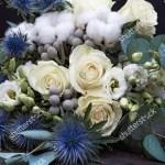 Winter Wedding Bouquet White Roses Cotton Stock Photo Edit Now 1566586693