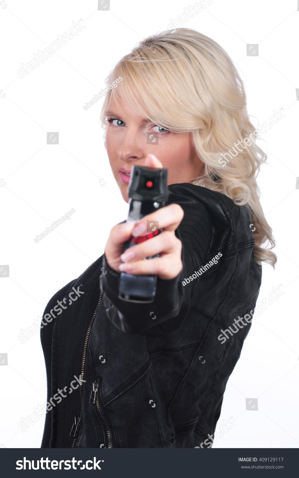 Woman Pepper Spray