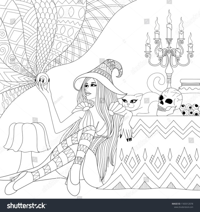Colouring Pages Coloring Book Adults Teen Stock Vector (Royalty