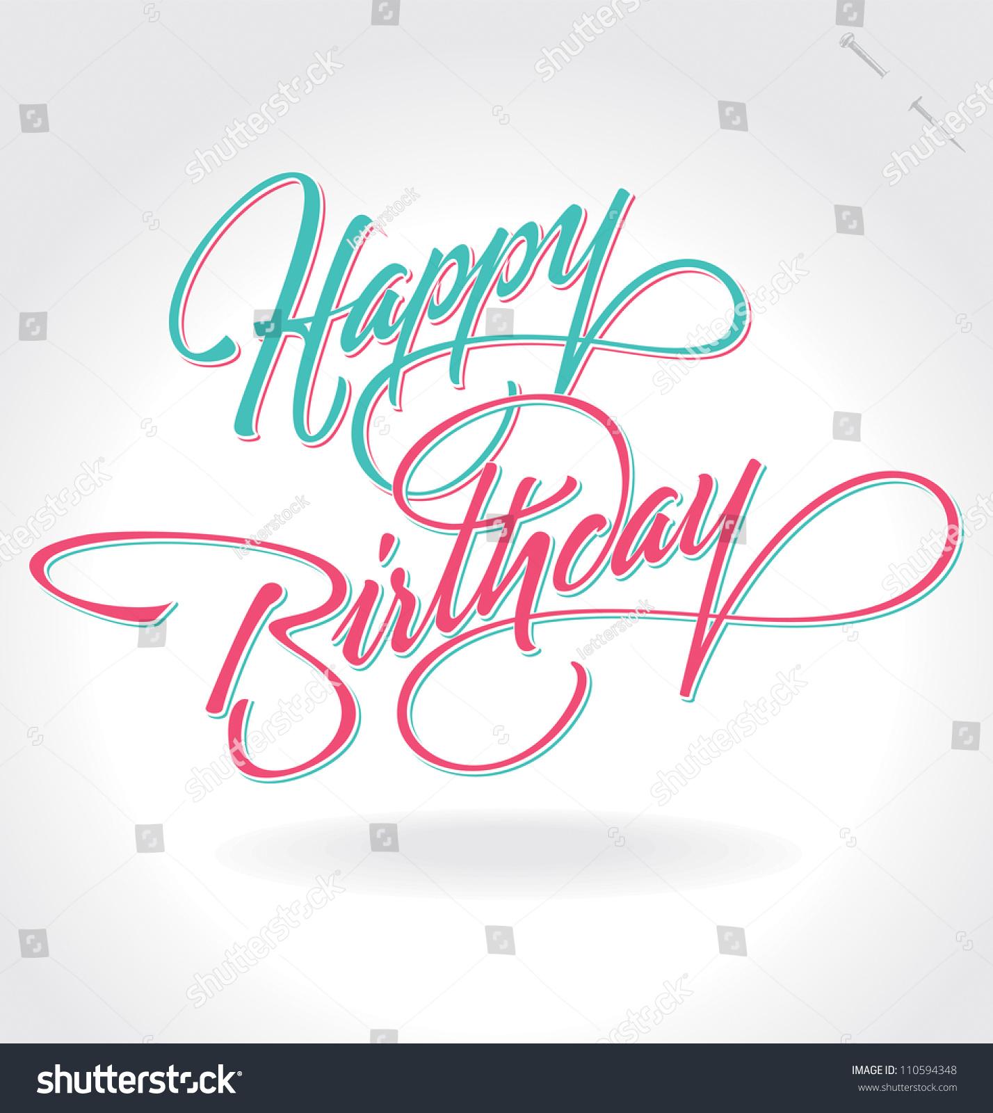 Happy Birthday Writing In Cursive