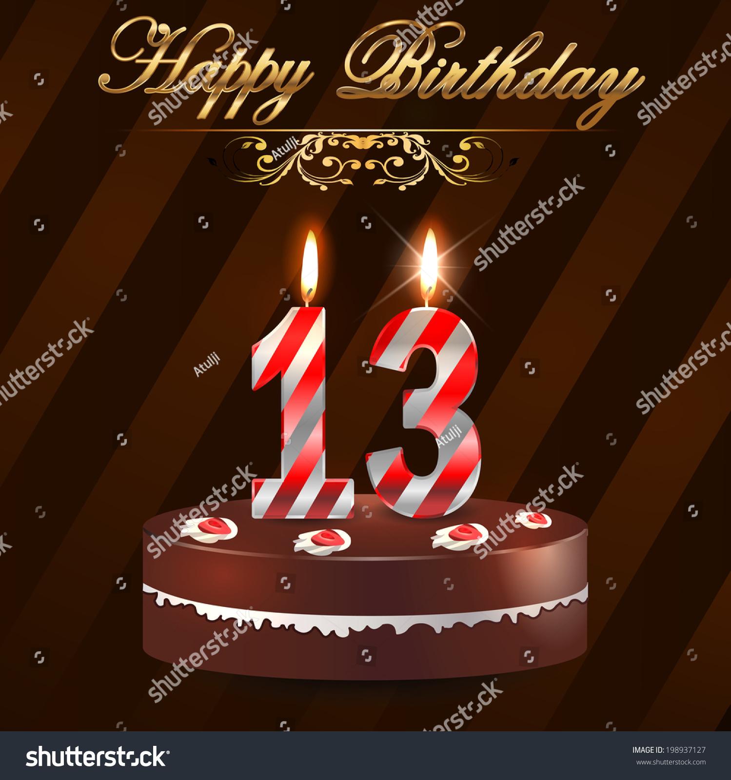 Happy 13th Birthday Cake Candles