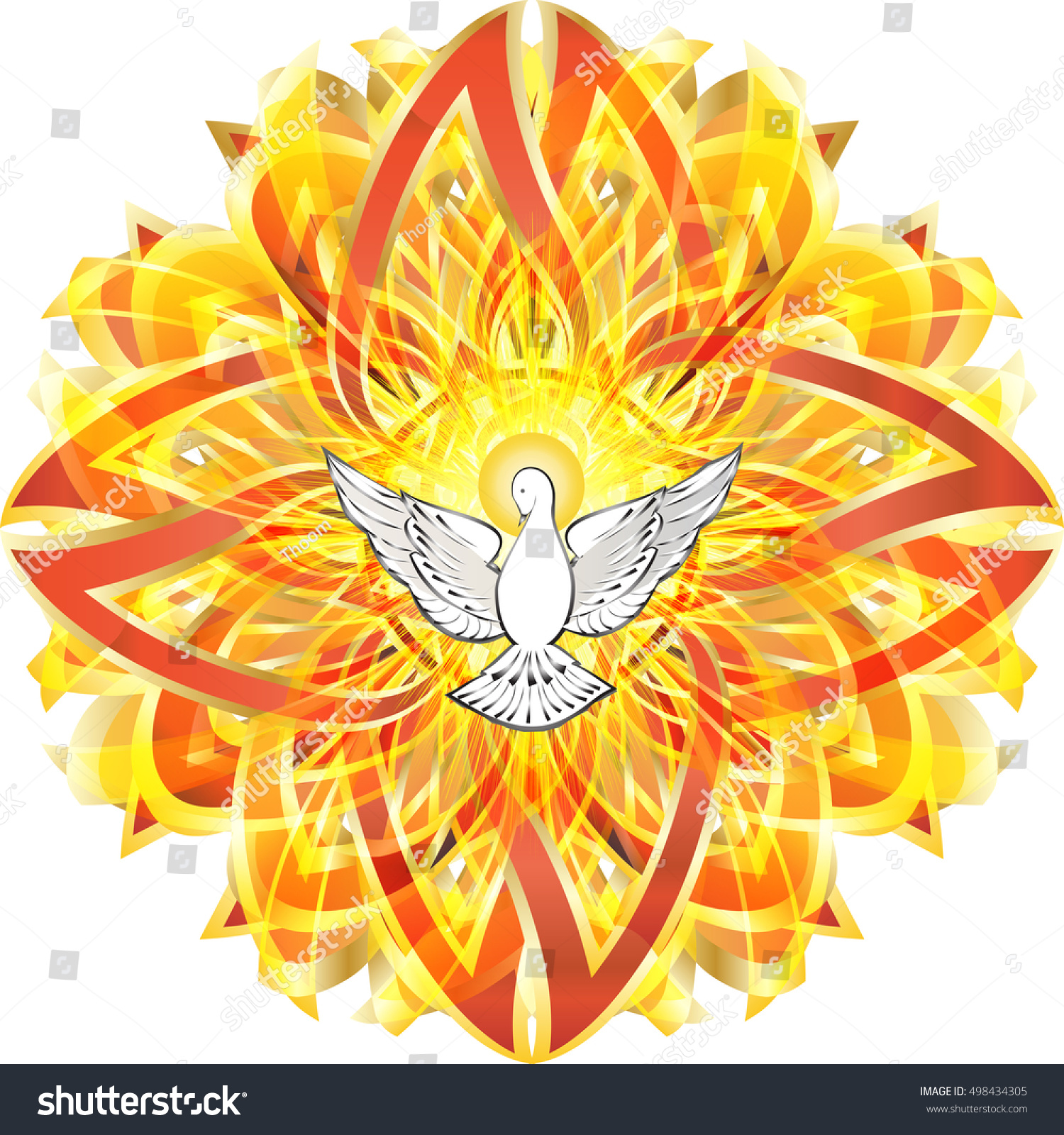 Seven Gifts Holy Spirit Catholic Clip Art