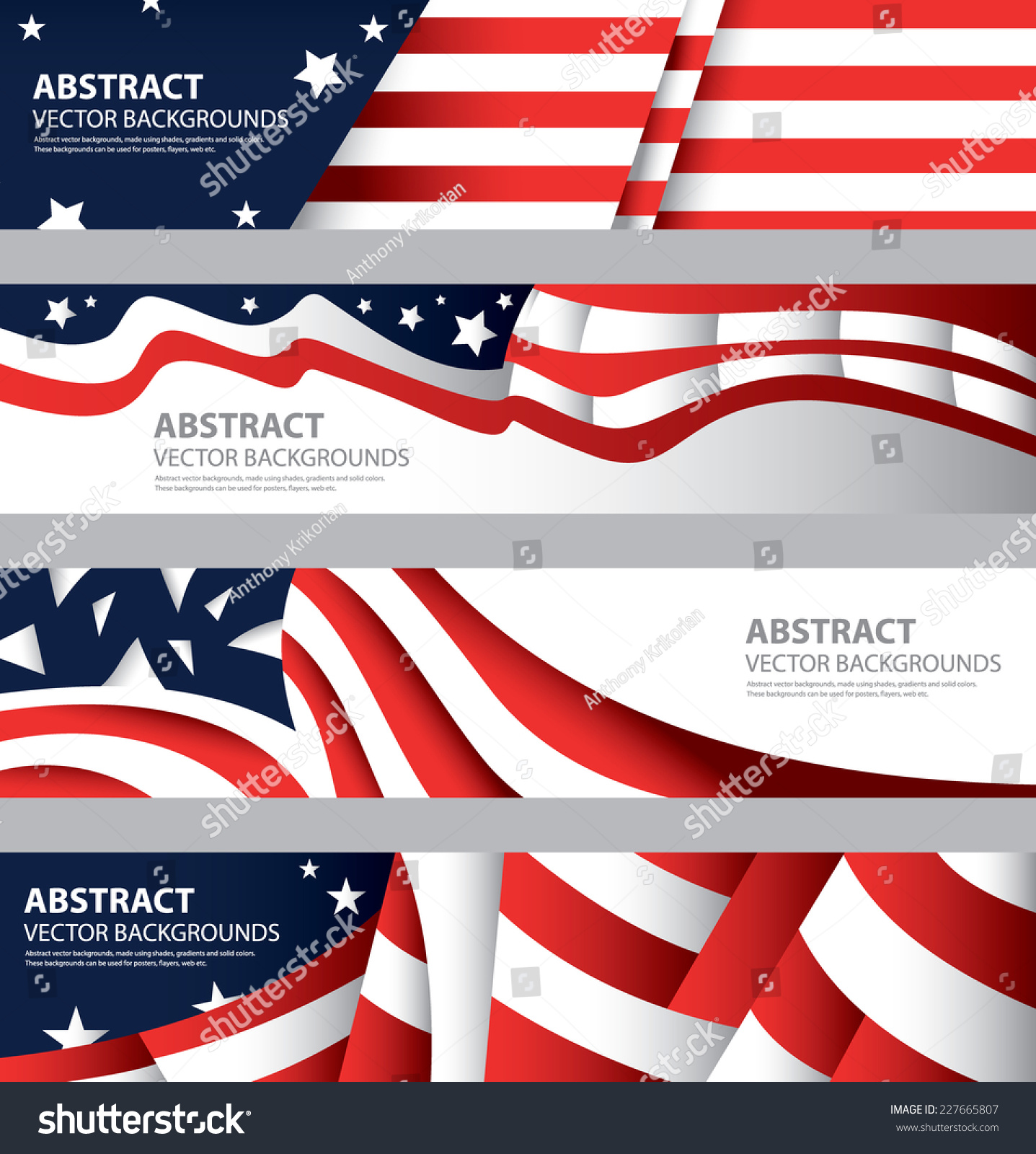 Abstract American Flag Usa Colors Abstract Background
