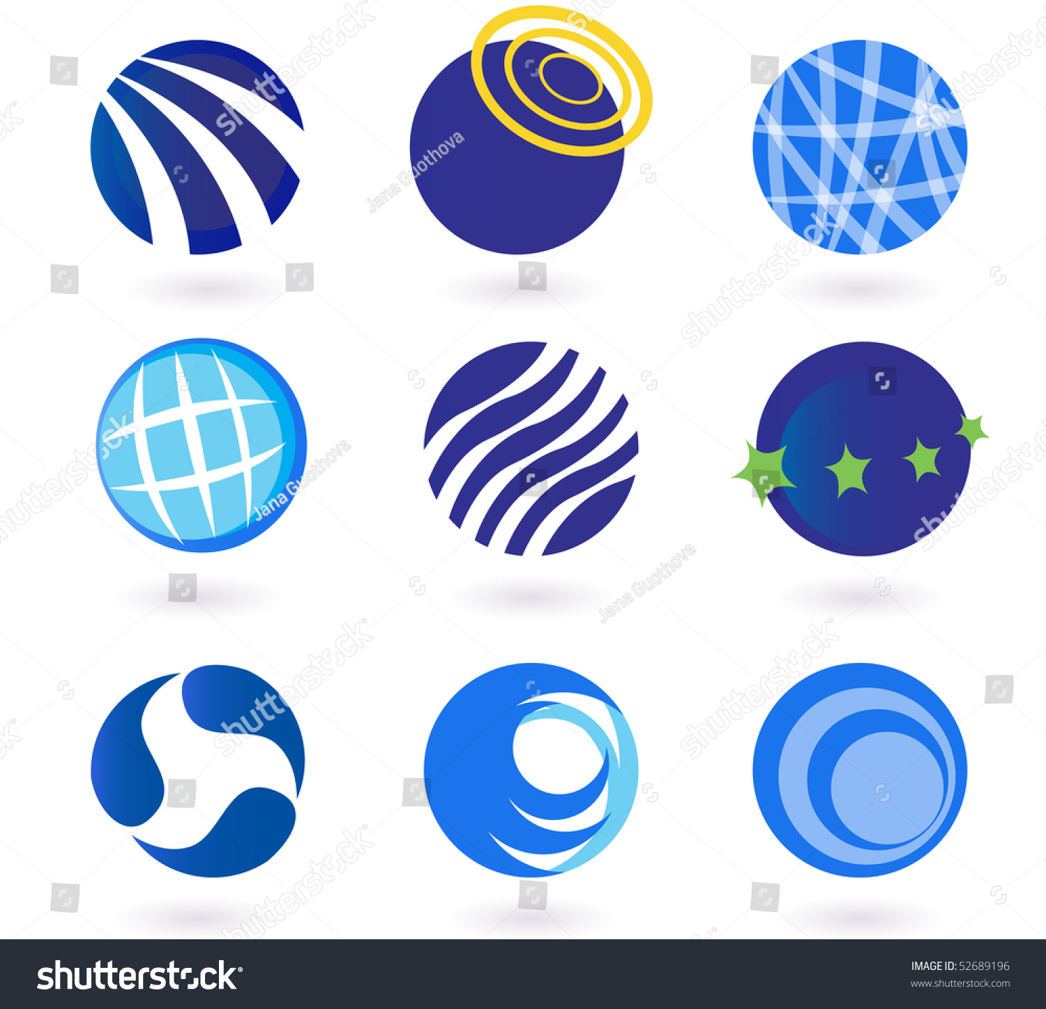 Abstract Globes Spheres Circles Earth Vector Stock Vector