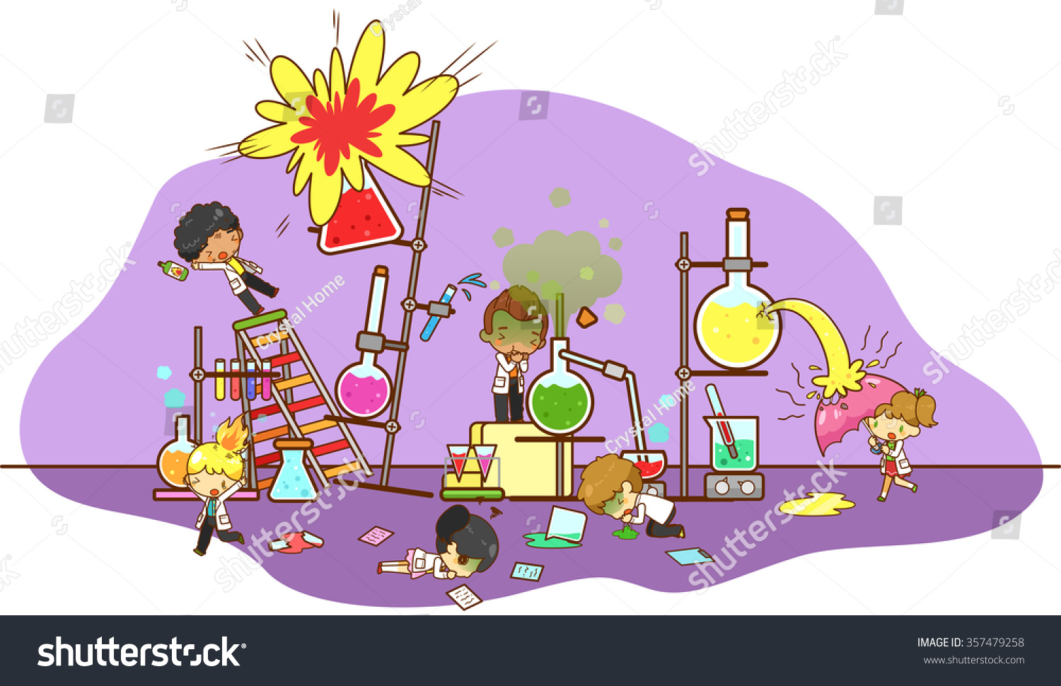 Accident And Destruction While Kid Scientists