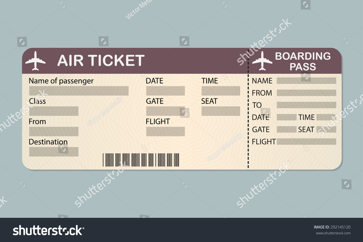Ticket boarding pass template bing images for Pretend plane ticket template