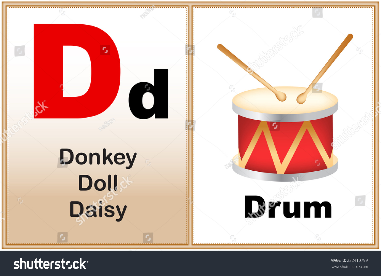 Alphabet Letter D Clipart Few Similar Stock Vector