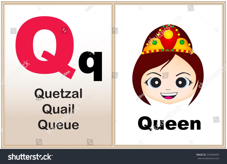 Alphabet Letter Q Clipart Few Similar Stock Vector