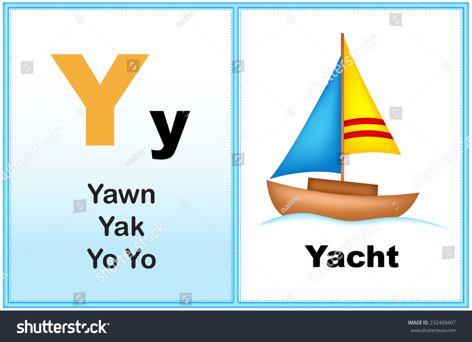 Alphabet Letter Y With Clip Art And Few Similar Words
