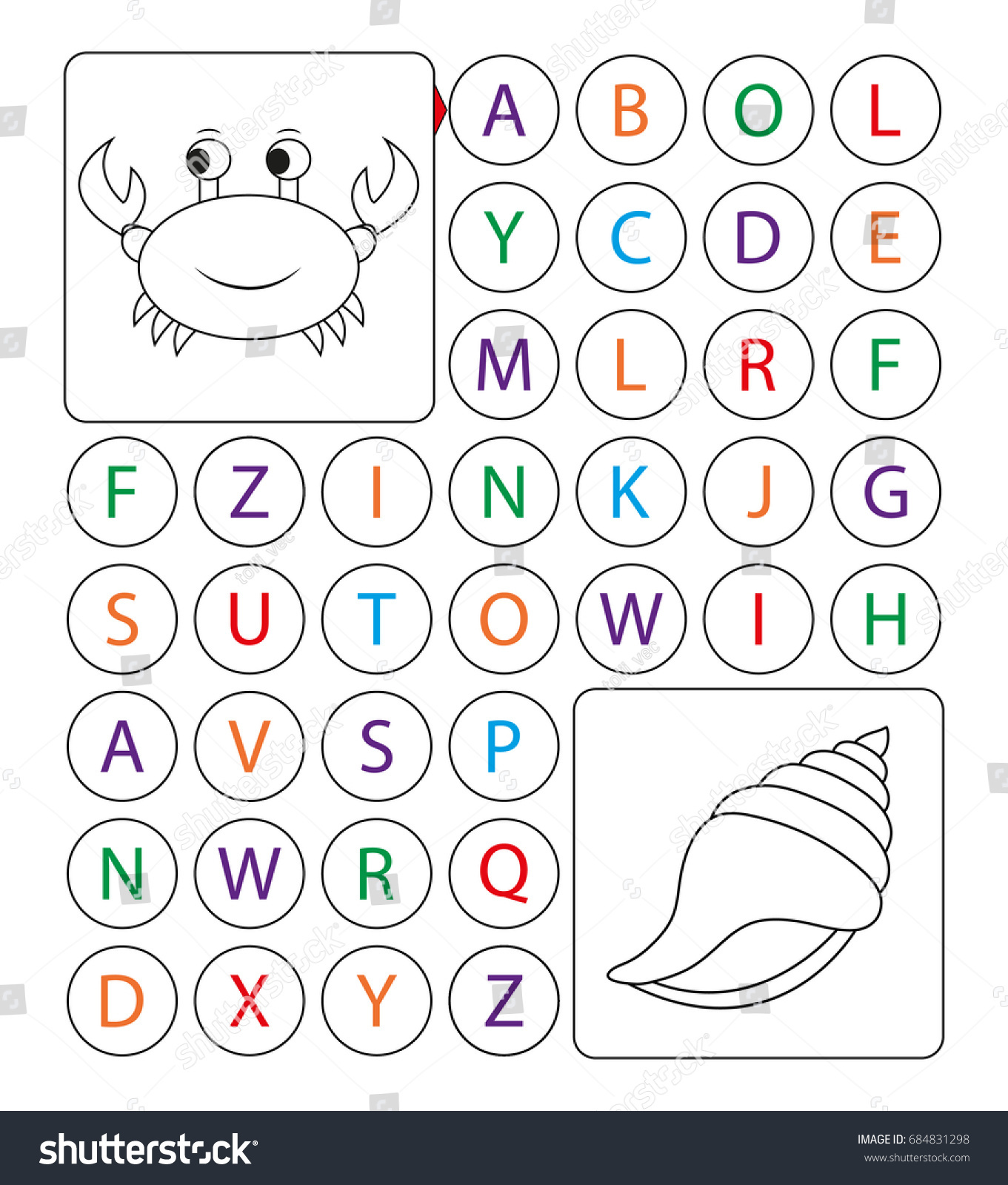 Alphabetic Labyrinth Puzzle Worksheet Learning Letters