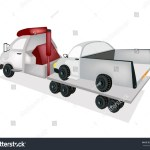 Illustration Tow Truck Recovery Truck Breakdown Stock Vector Royalty Free 164665871