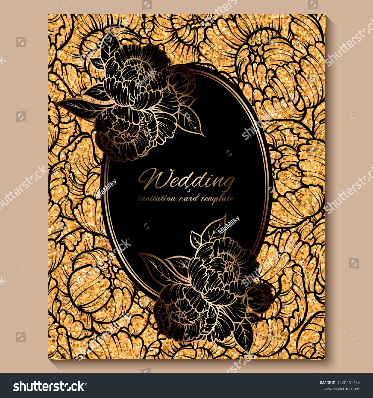 https www shutterstock com image vector antique royal luxury wedding invitation card 1320451484