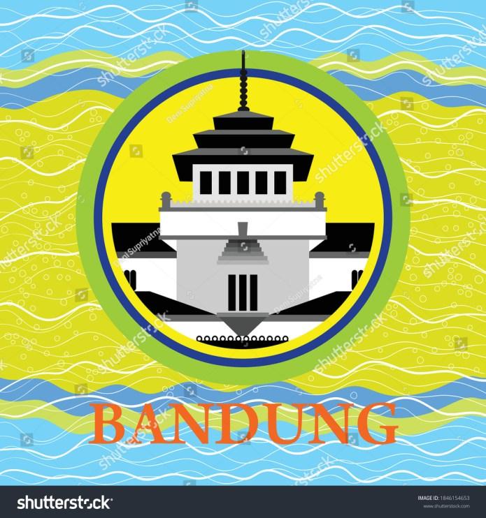 Bandung Iconic Very Beautiful City Indonesia Stock Vector Royalty Free 1846154653