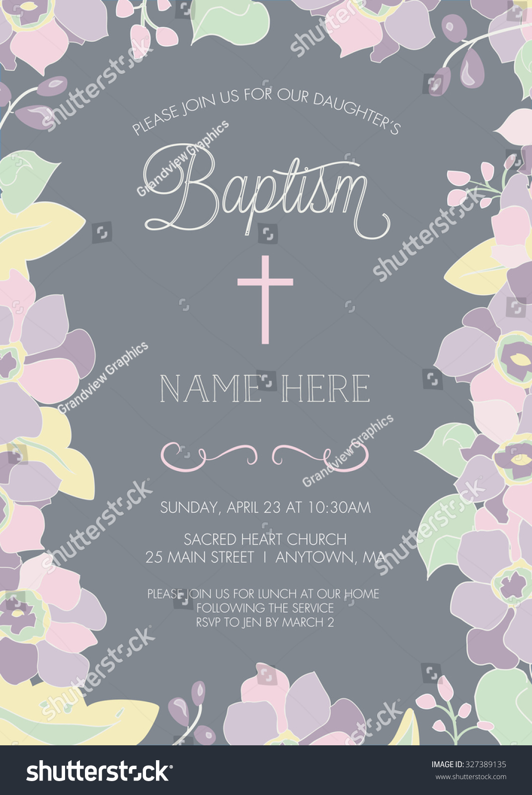 Baptism Invitations Vector Free