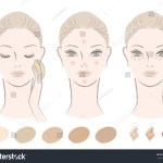 Beautiful Woman How Apply Foundation Concealer Stock Vector Royalty Free 116639395