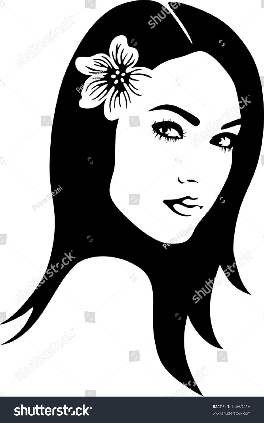 Beautiful Womans Face Stock Vector 14660416 Shutterstock