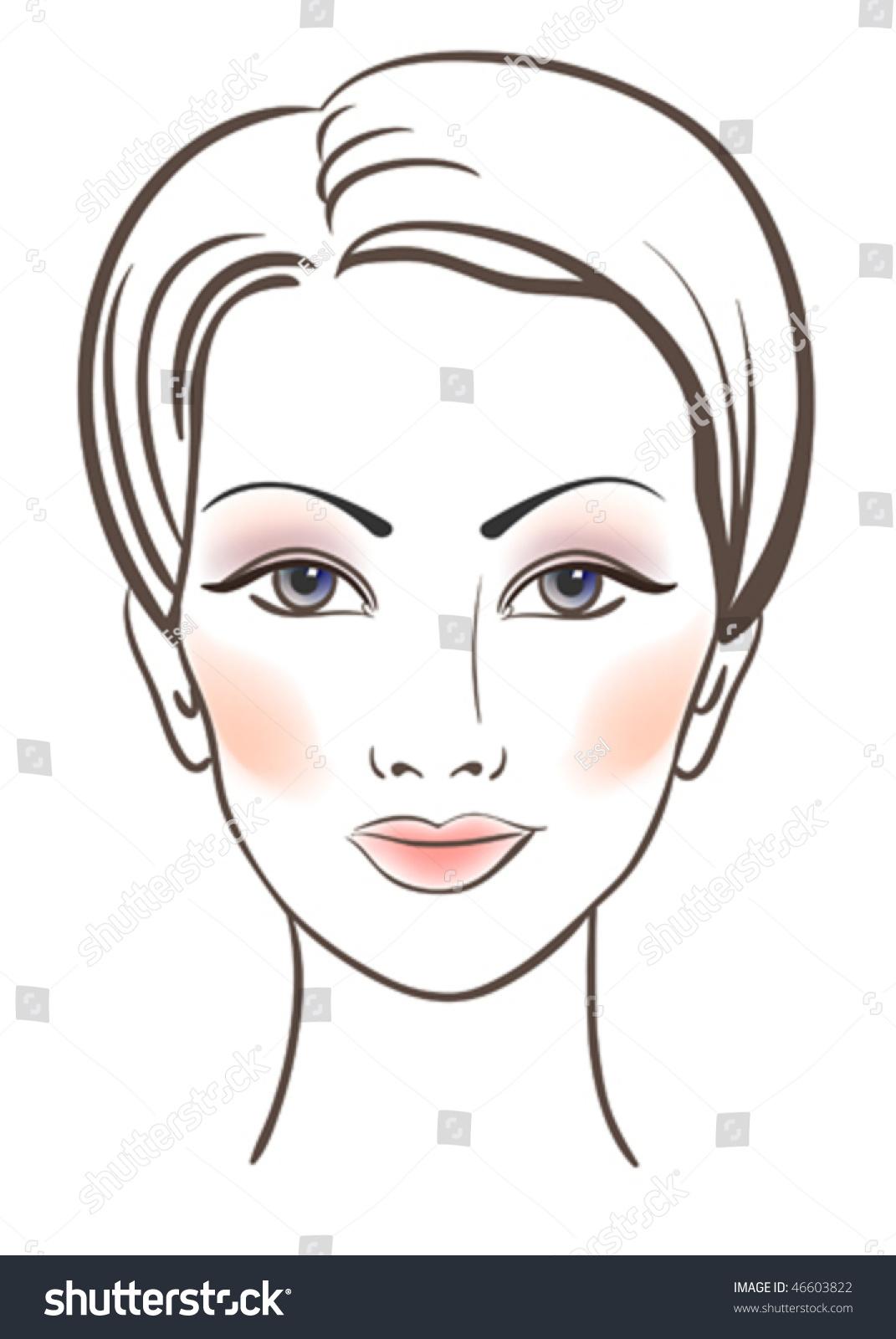 Beauty Women Face Makeup Vector Illustration Stock Vector