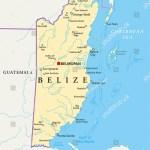 Belize Political Map Political Map Belize Stock Vector Royalty Free 151269254