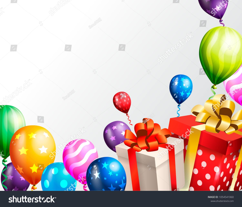 https www shutterstock com image vector birthday invitation card background 1054541060