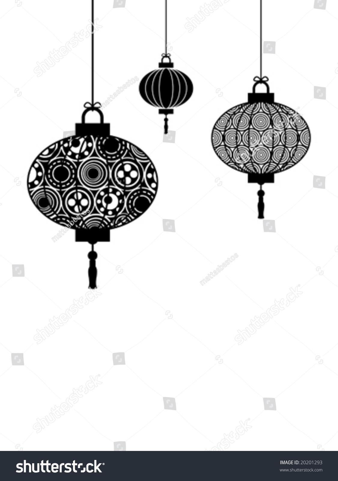 Lantern Chinese Out Cut