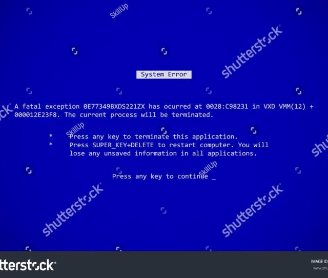Blue Screen Of Death Bsod System Crash Report Background Vector Illustration