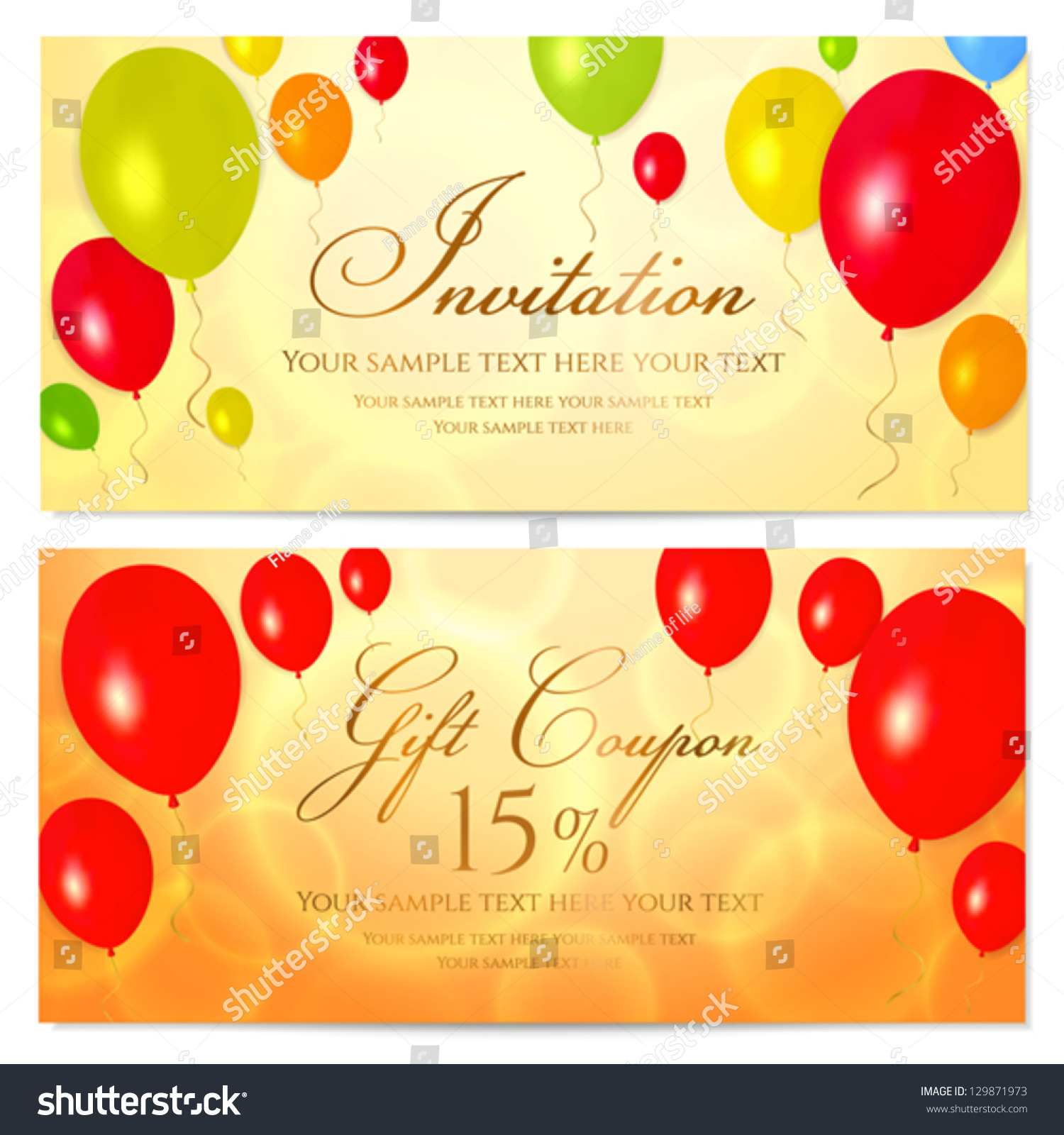 Voucher Card Template gift design for special time temp stock – Voucher Card Template