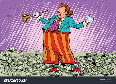 Business Concept Money Clown Joke Pop Stock Vector ...
