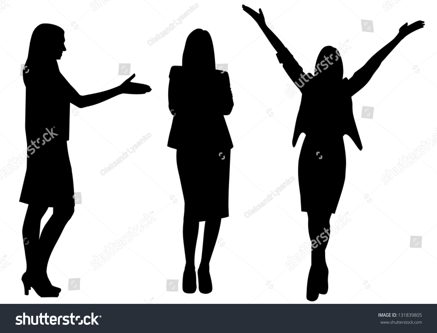 Clip Art Of Women Standing Together
