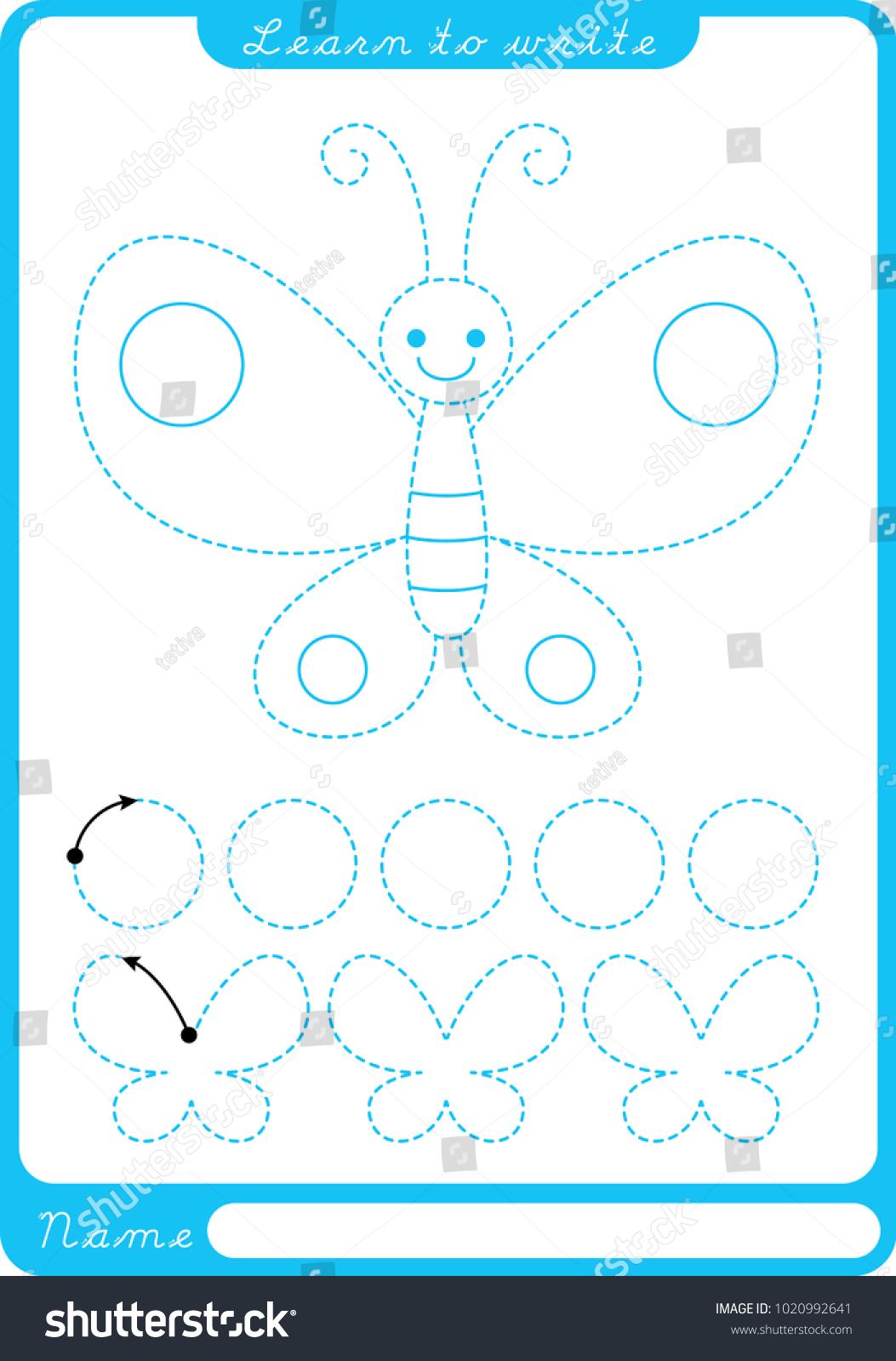 Erfly Tracing Preschool Worksheets Erfly Best Free