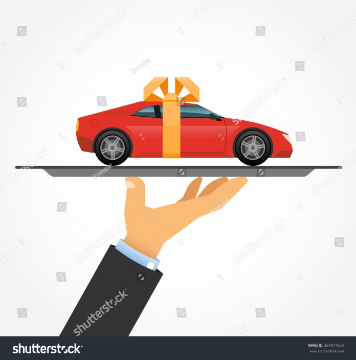 car on tray concept car sales stock vector (royalty free) 264977630