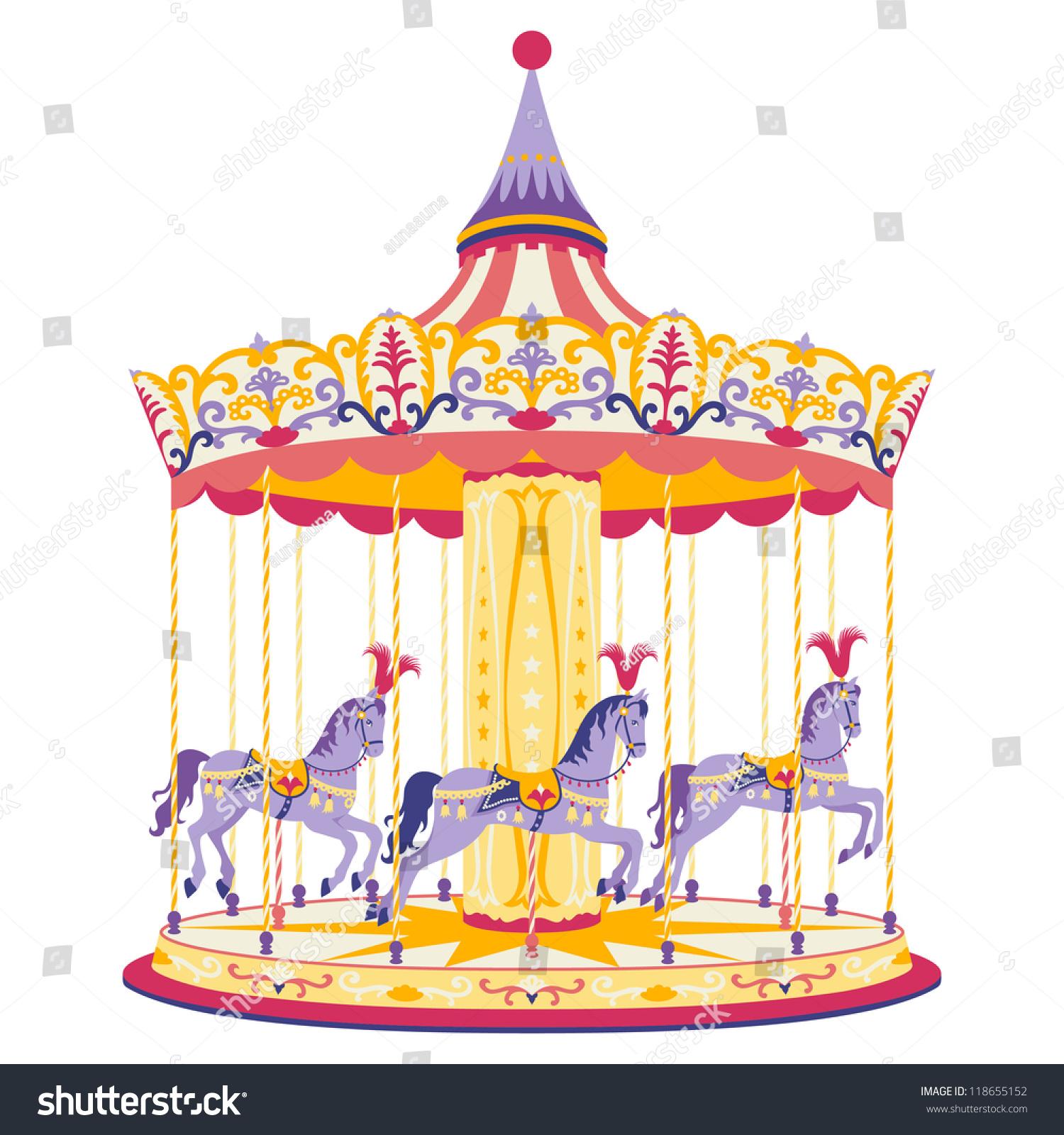 Carousel Horses Stock Vector