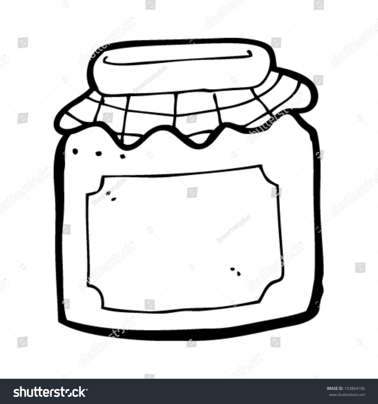 Cartoon Jam Jar Stock Vector 103864106 Shutterstock