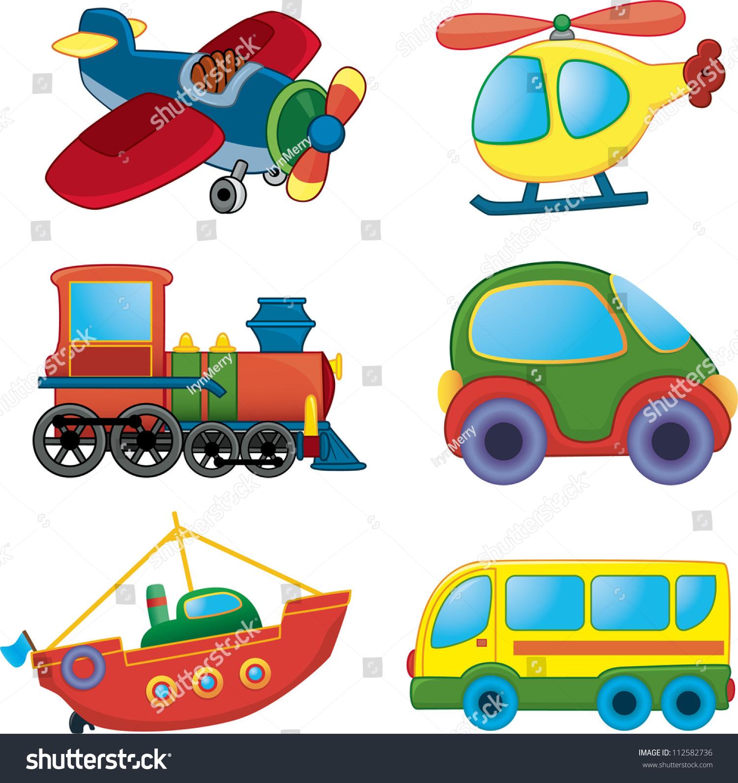 Cartoon Transport Vector Set Stock Vector