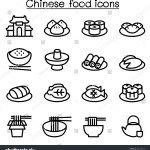 Chinese Food Icon Set Thin Line Stock Vector Royalty Free 481709716