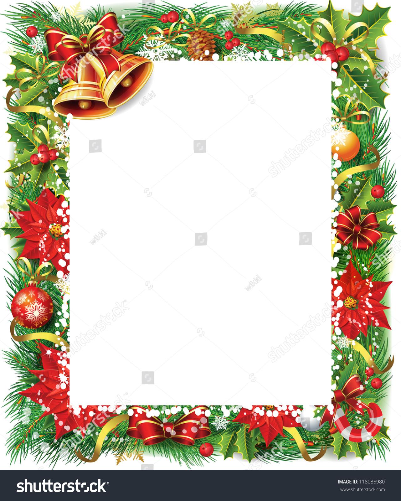 Christmas Frame Stock Vector 118085980 Shutterstock