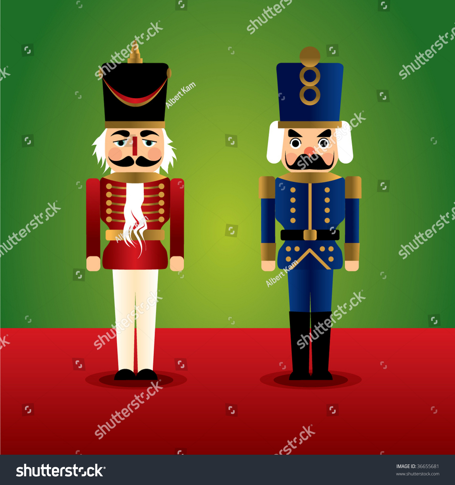 Christmas Nutcracker Soldier Stock Vector Illustration