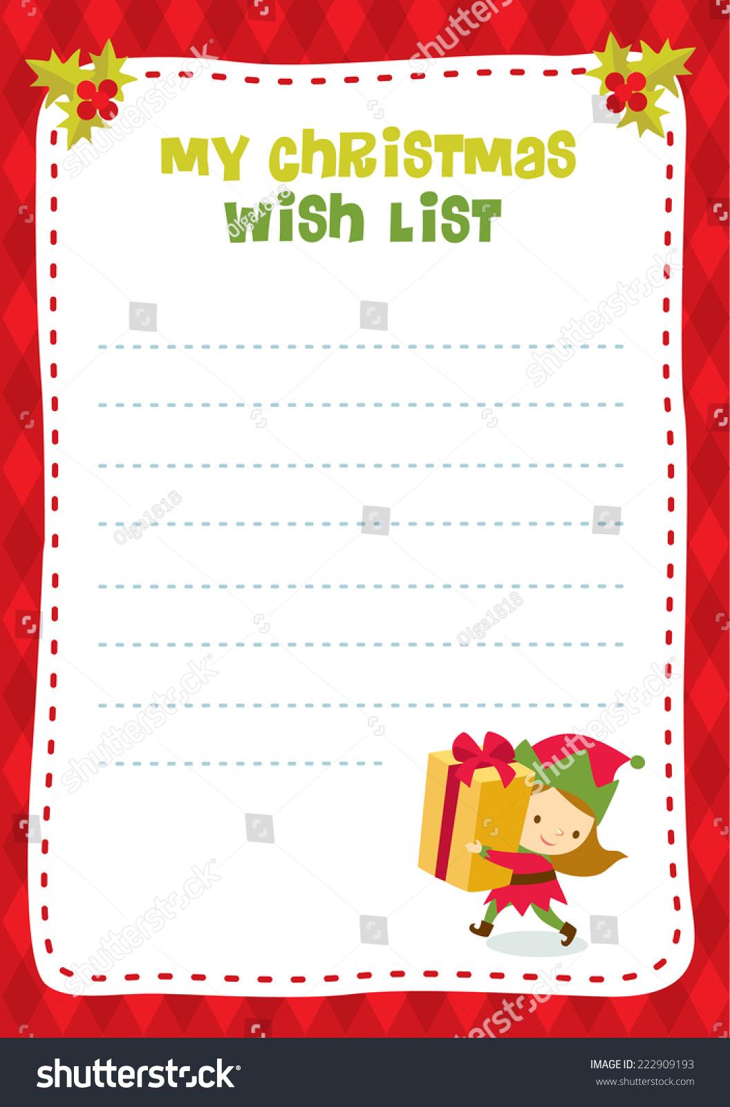 Christmas Wish List Stock Vector