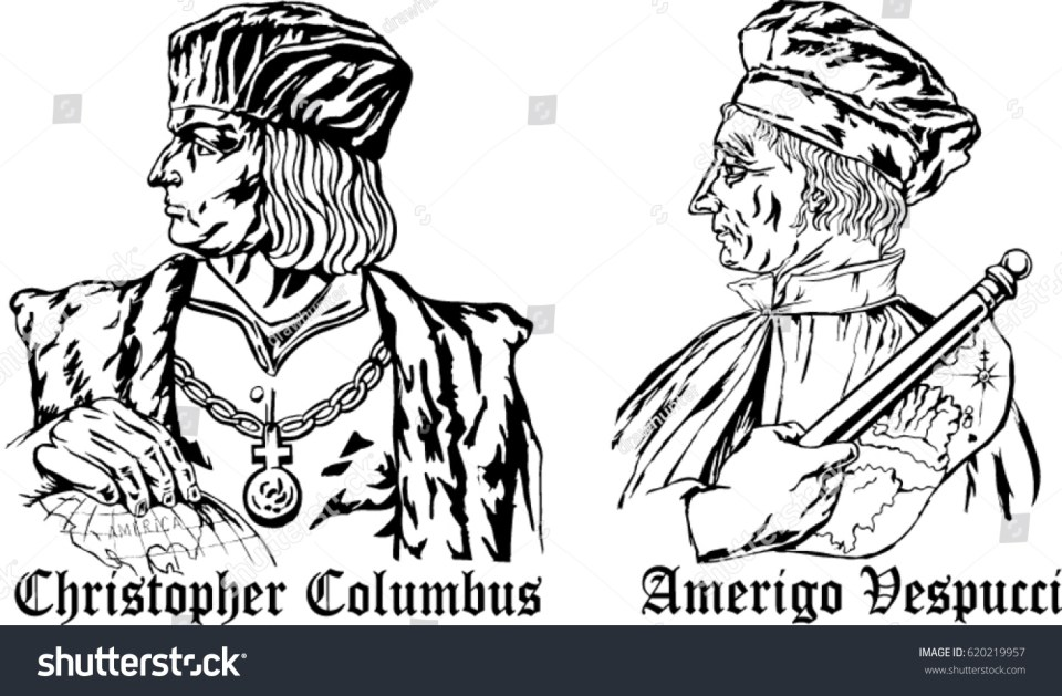 Image result for Christopher Columbus with Amerigo Vespucci