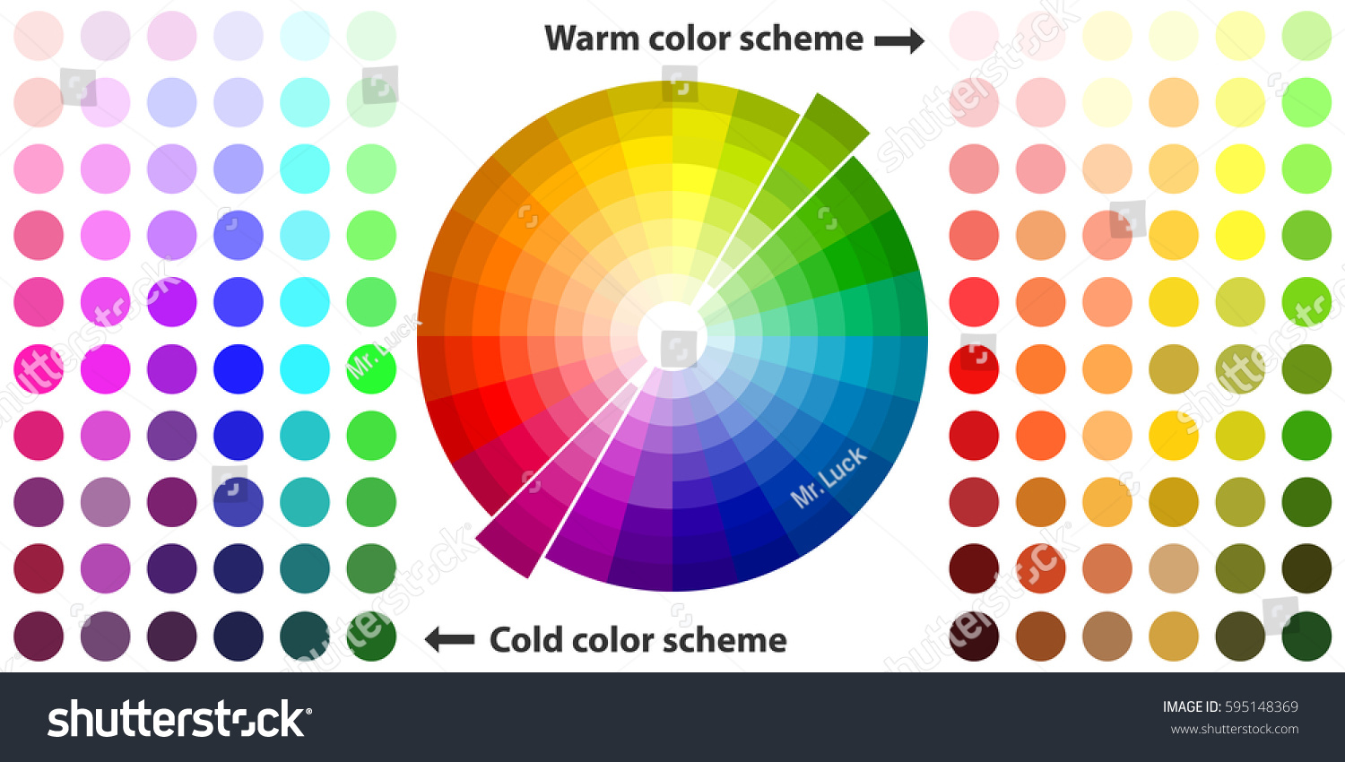 Color Palette Color Schemes Warm Colors Stock Vector
