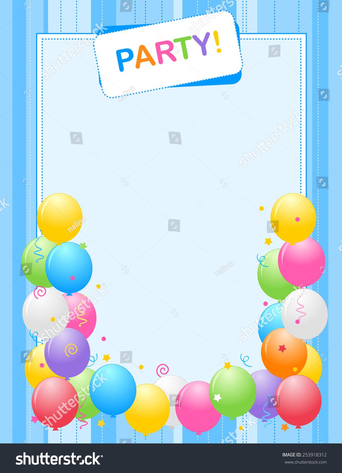 https www shutterstock com image vector colorful balloons border frame illustration birthday 253918312