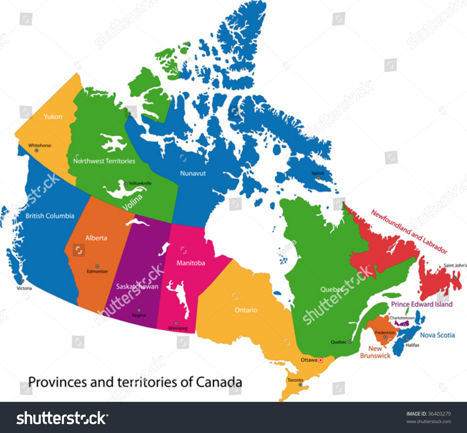 Canada Map Cities And Provinces