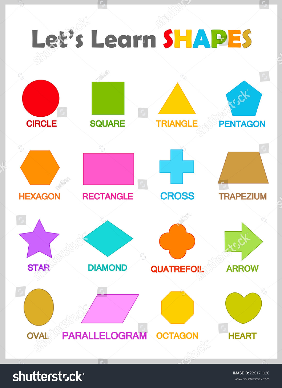 Printables Maths Shapes With Names Messygracebook
