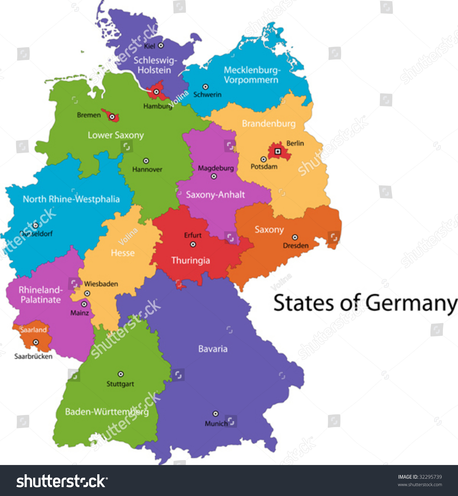 Map Of German Regions Afp Cv