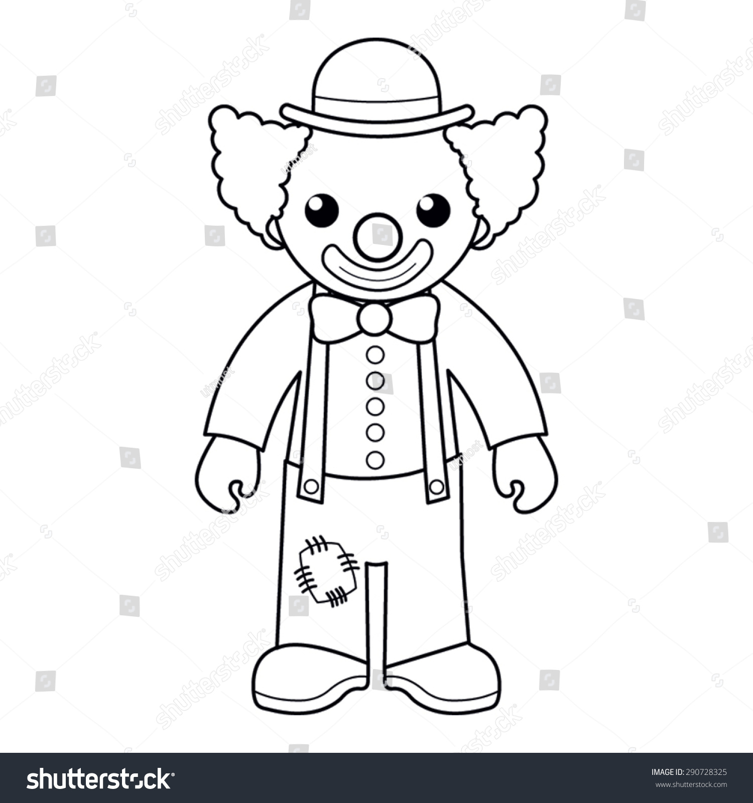 Coloring Page Vector Illustration Black White Stock Vector