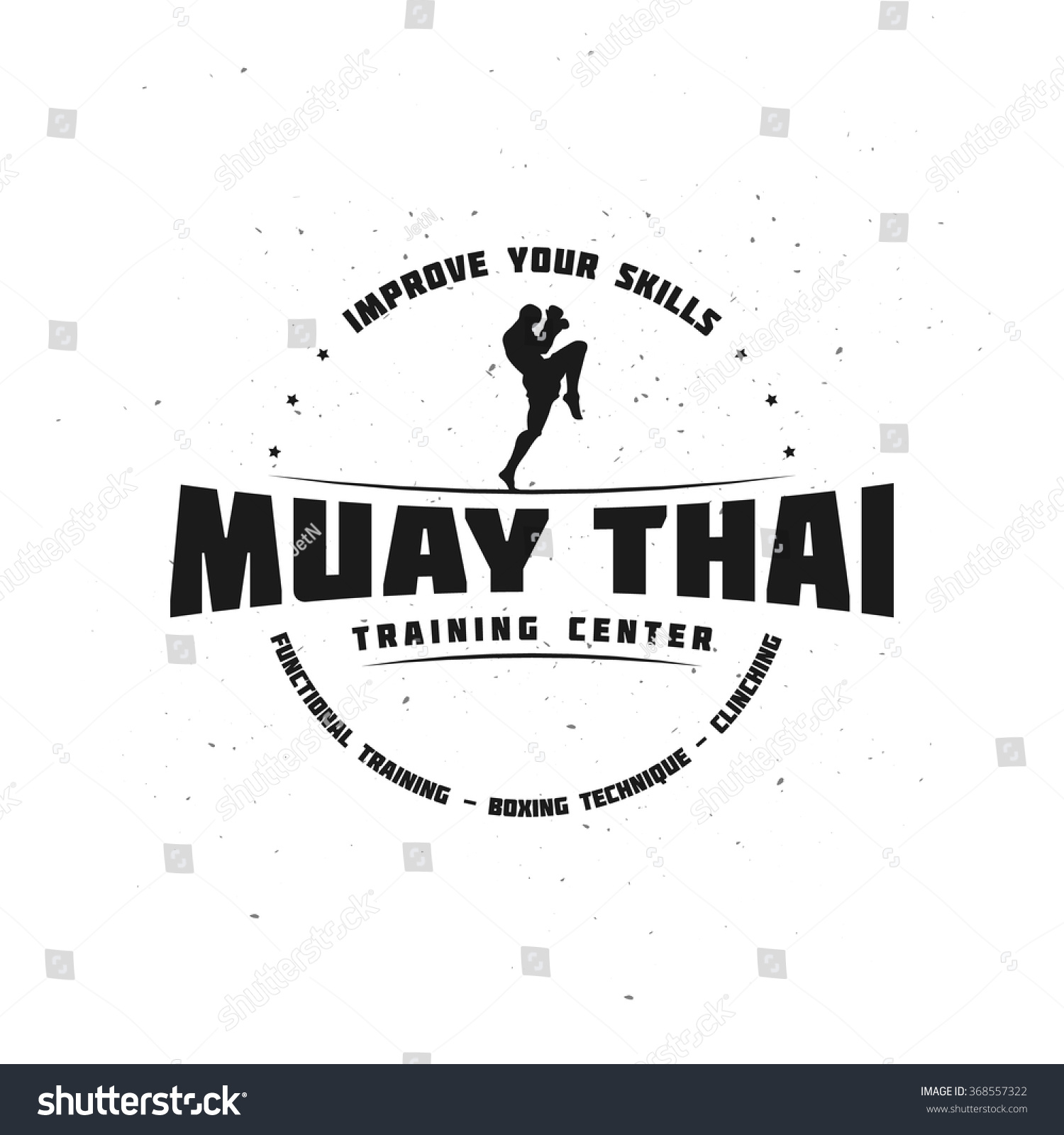 https www shutterstock com image vector combat sport fitness emblem fighter muay 368557322