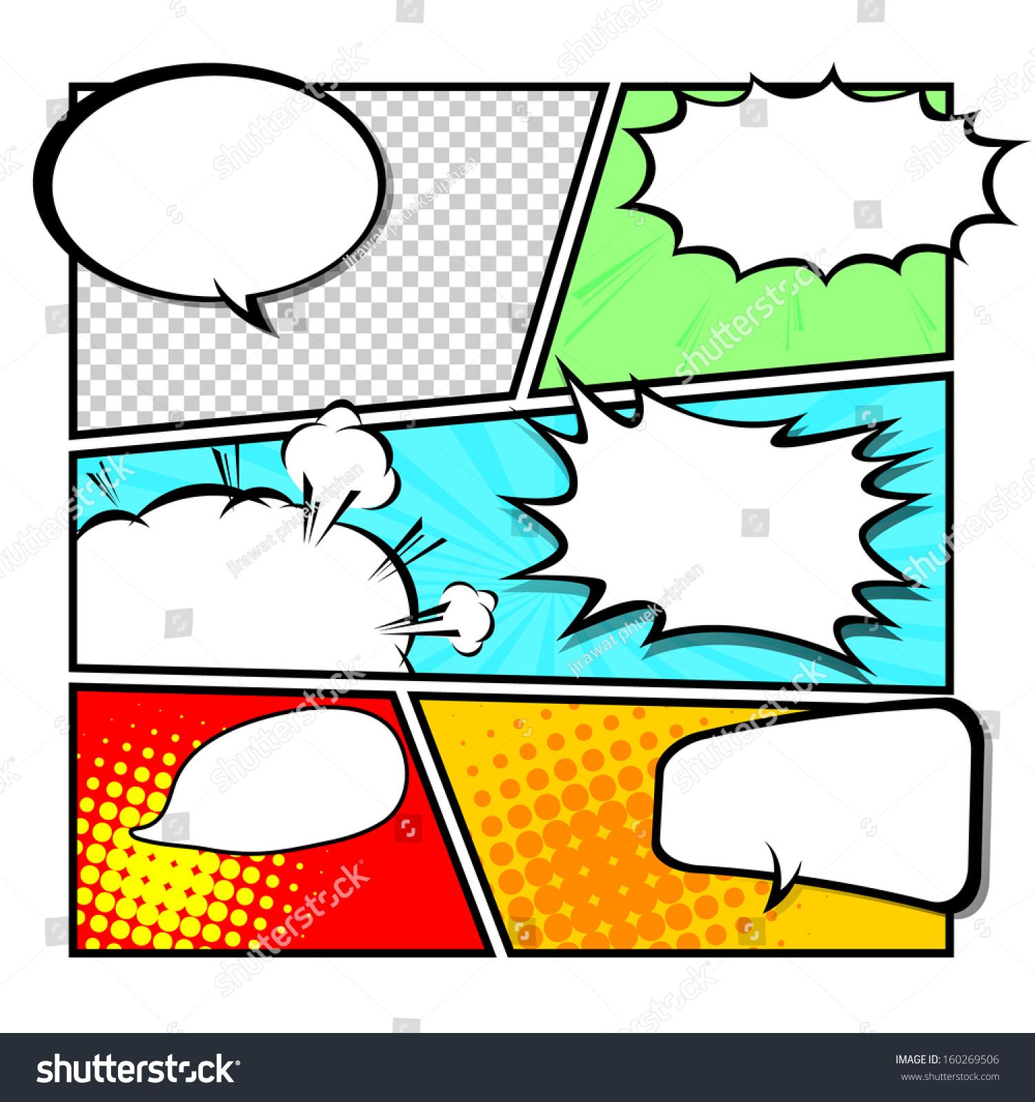 Descargar Doc Comic Template  Comic Strip Template