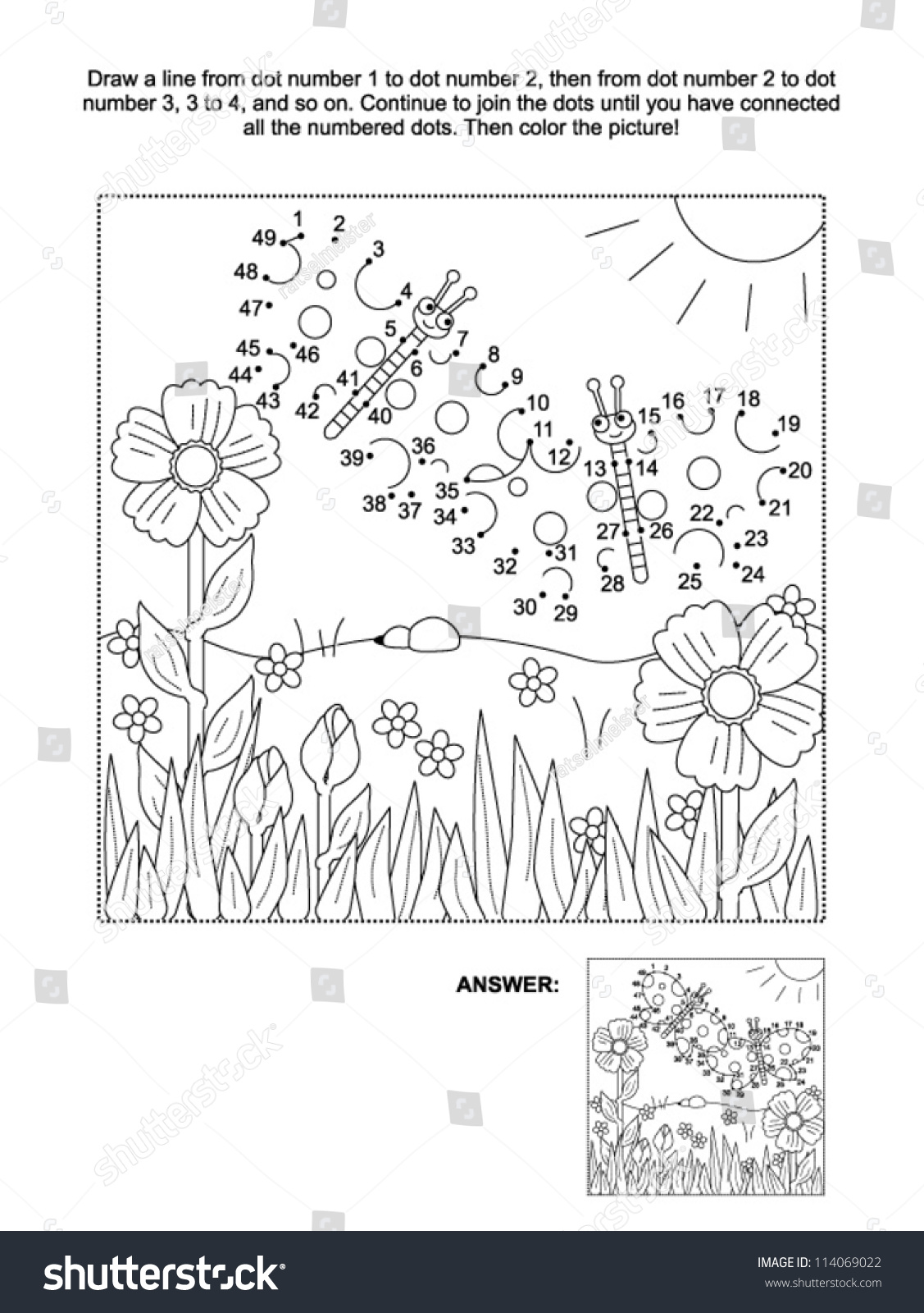 Create Connect The Dots Worksheet