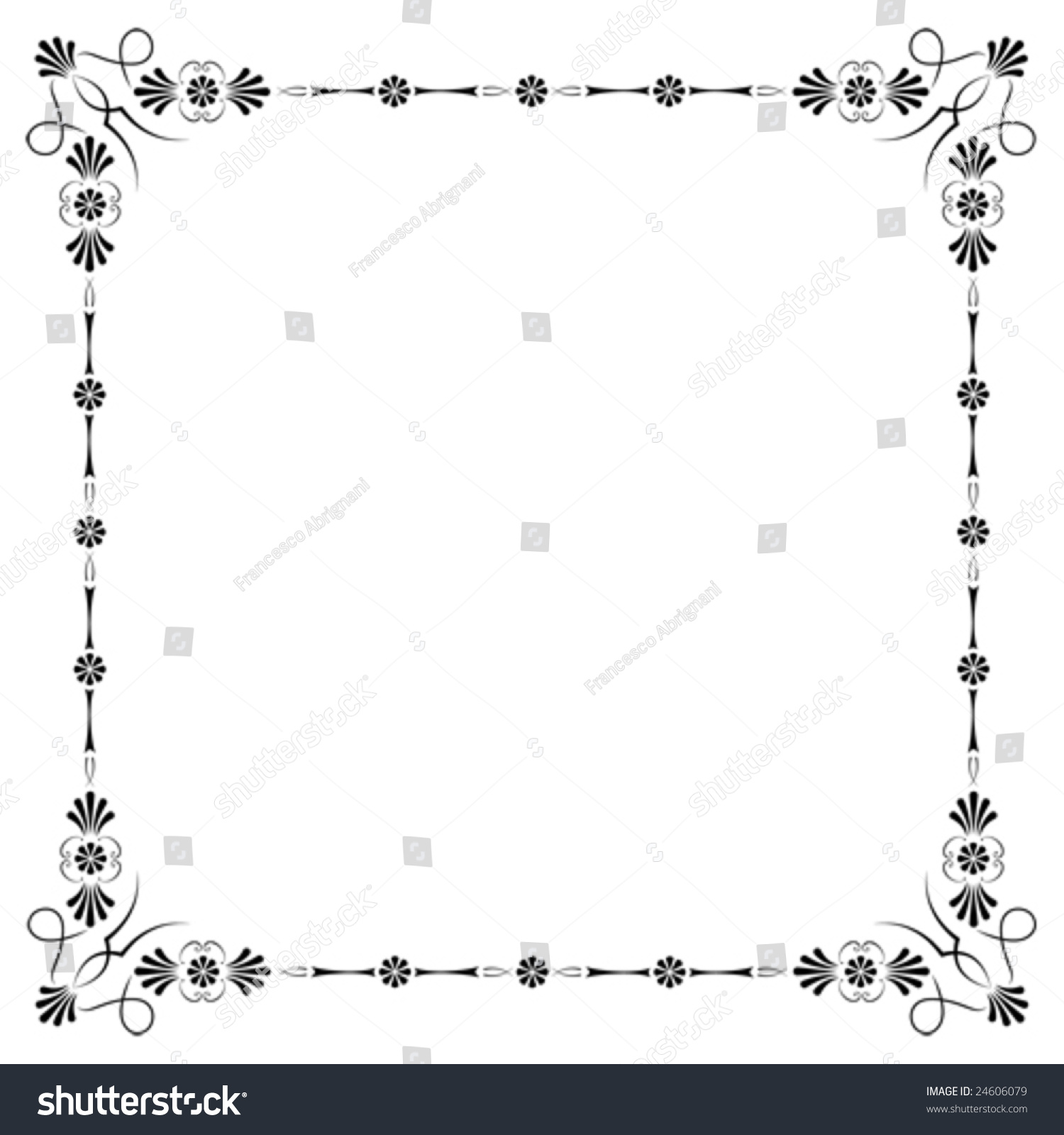 Corners Borders Page Decorations Very Easy Stock Vector