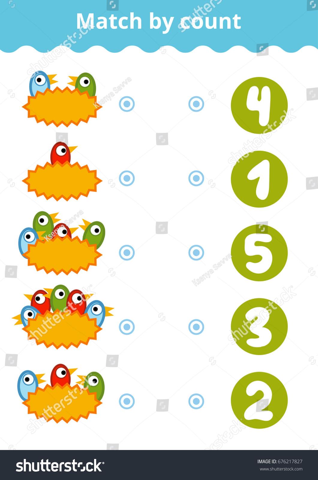 Counting Game Preschool Children Educational Mathematical