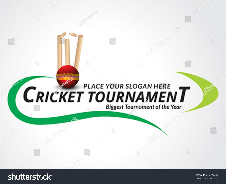 Cricket Tournament Banner Background Vector Illustration